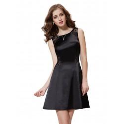 krátké černé společenské šaty Vilma XS