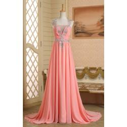 luxusní meruňkové plesové šaty antické Isidoa XXS-S