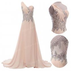 luxusní krémové plesové šaty na maturitní ples Lucia XS