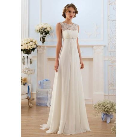krémové antické svatební šaty Rivola M-L