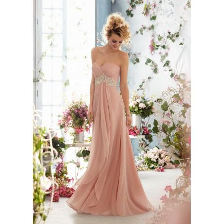 luxusní pudrové růžové společenské šaty na maturitní ples Triss XS-M