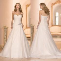 luxusní krémové svatební šaty Rozé M-L