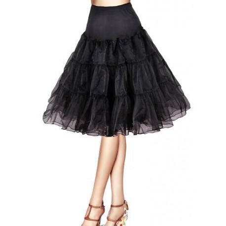 krátká spodnice pod krátké společenské nebo svatební šaty - černá