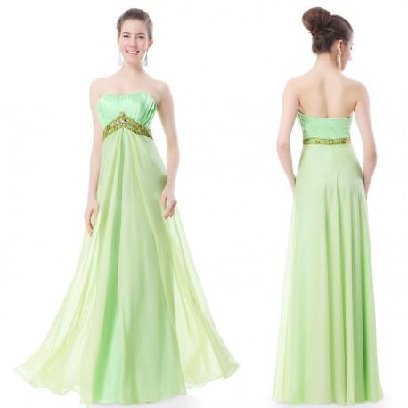 dlouhé zelené společenské šaty Gabriela M