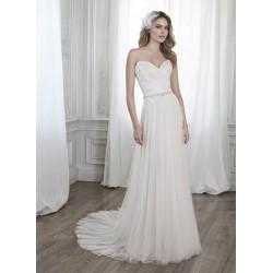 krémové krajkované svatební šaty s tylovou sukní Sofia XS-S