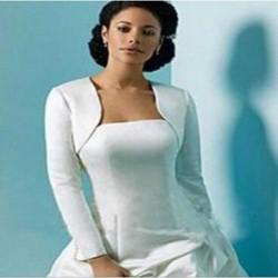 bílé svatební bolerko pro nevěstu s dlouhými rukávy XL
