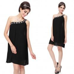 krátké černé šifonové společenské šaty XS