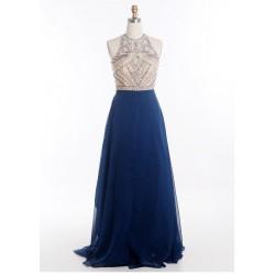 antické tmavě modré plesové šaty na maturitní ples Veronica XS