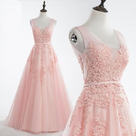 774a1d8431b světle růžové plesové šaty na maturitní ples Andromeda XS ...