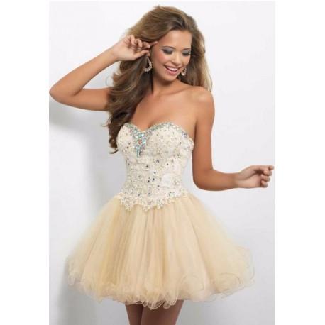 14a35688ba6d krátké krémové společenské šaty Luisa XS-S - Hollywood Style E-Shop ...