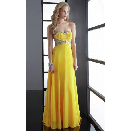 2ee1bcd065cc zářivě žluté antické plesové šaty na maturitní ples Jordana XS-M ...