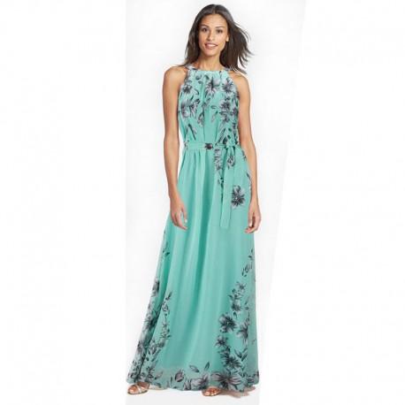 dlouhé modré letní šifonové šaty Eliza M-L - Hollywood Style E-Shop ... 03859e5b967