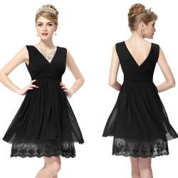 krátké černé společenské šaty Maria S-M