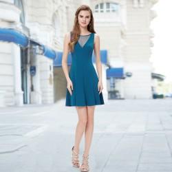 krátké modré společenské šaty Tina XS