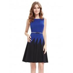 modro-černé krátké společenské šaty Sarah XXL