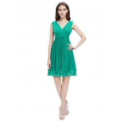 krátké zelené jednoduché společenské šaty M-L
