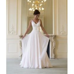 luxusní bílé antické svatební šaty na ramínka Alicia 4XL-5XL