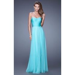 světle modré tyrkysové plesové společenské šaty Amethea S-M