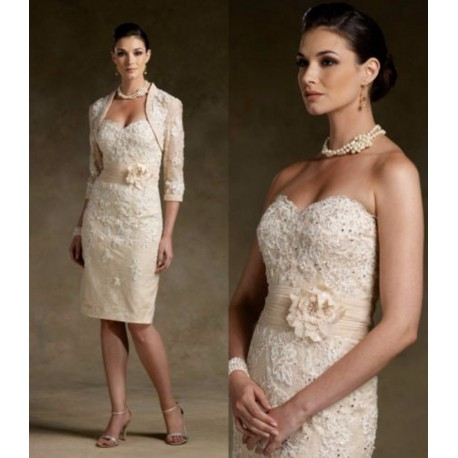 krátké champagne společenské nebo svatební šaty Ornea S-M