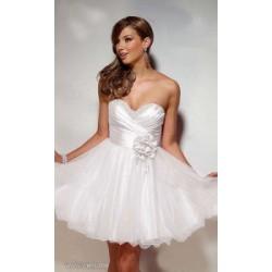 krátké bílé společenské nebo svatební šaty Anna XS-S