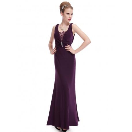 b292a0e3bd49 tmavě fialové dlouhé společenské šaty Drusy S - Hollywood Style E ...