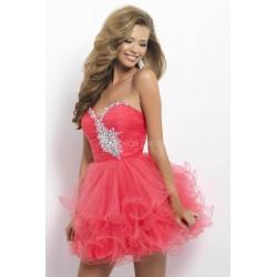 melounové krátké společenské šaty na ples Luisa XS-S