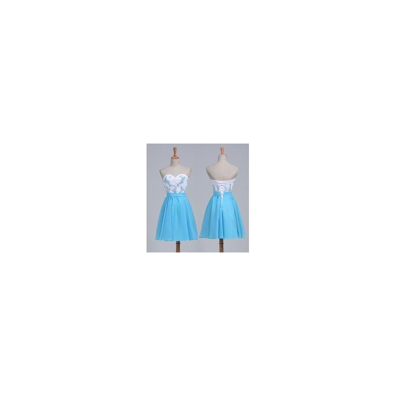 51aa5fe12374 krátké modro-bílé společenské šaty Luisa XS-S - Hollywood Style E ...