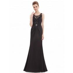 dlouhé černé společesnké šaty na ramínka Kimberly XL