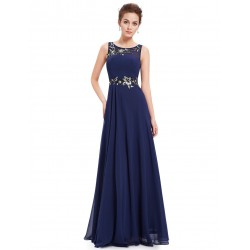 tmavě modré dlouhé společenské šaty Melissa XXL