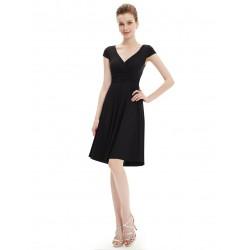 krátké černé společenské šaty na ramínka Penny XXXL