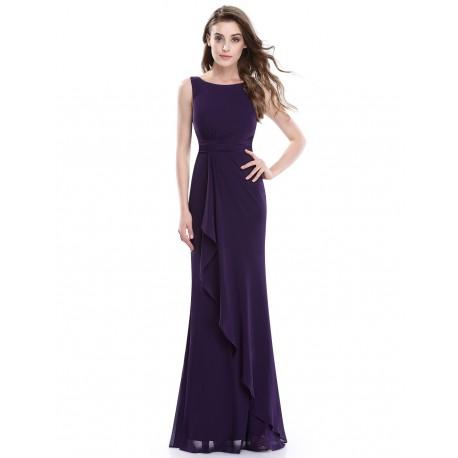 tmavě fialové dlouhé společenské šaty Dita XL