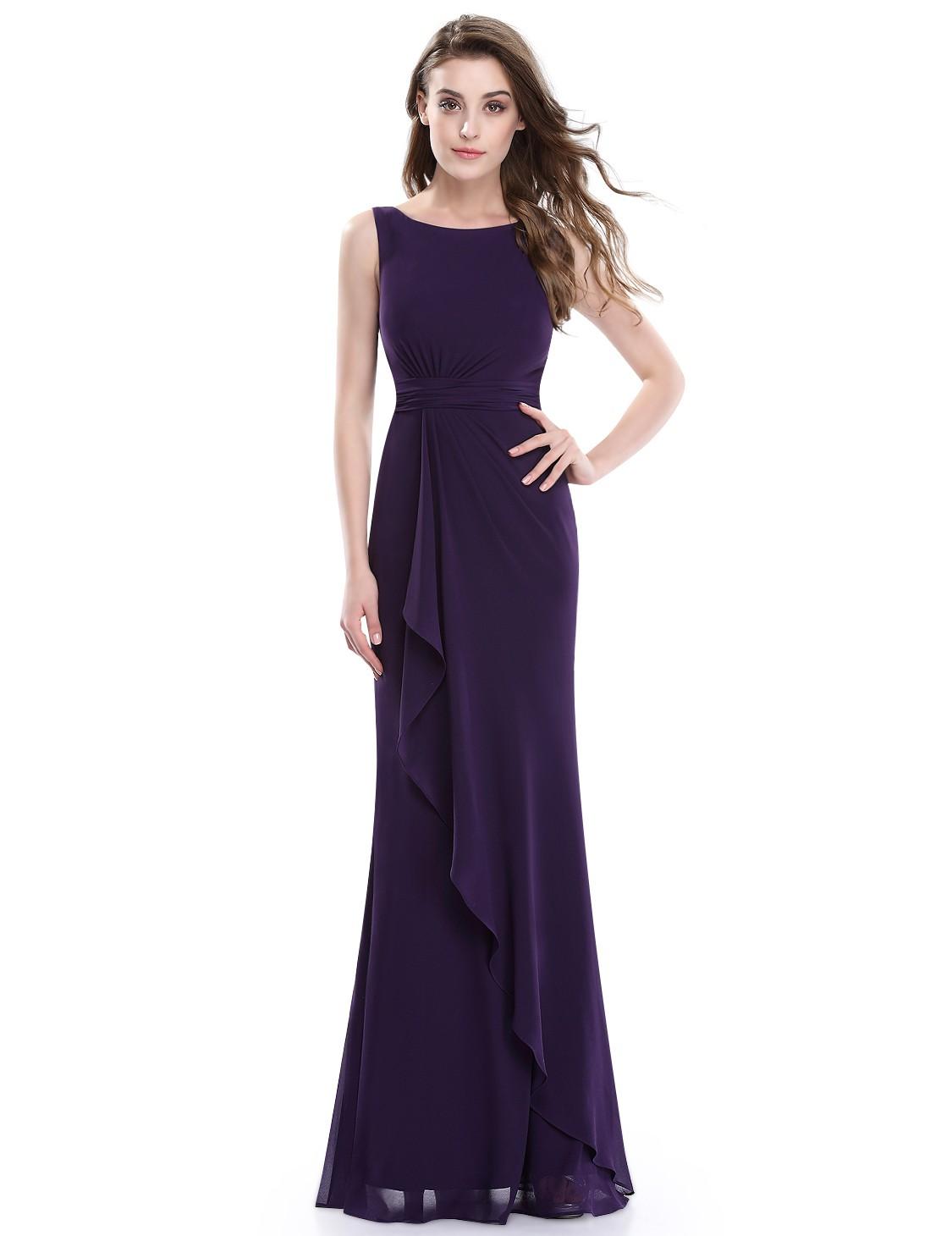 a9f91a973776 tmavě fialové dlouhé společenské šaty Dita XL - Hollywood Style E-Shop -  plesové a svatební šaty