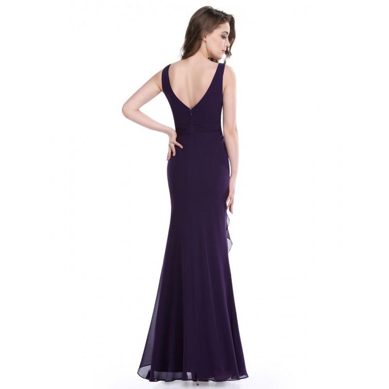 34c4f4bc4cda tmavě fialové dlouhé společenské šaty Dita XL - Hollywood Style E ...