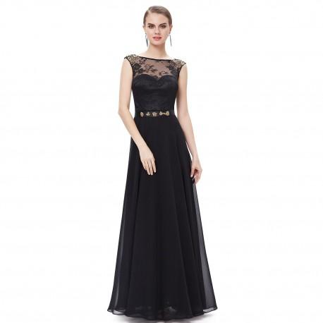 8ad78029046 dlouhé černé společenské šaty s krajkou Mandy L - Hollywood Style E ...