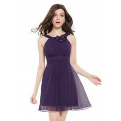 krátké fialové společenské šaty Tina S