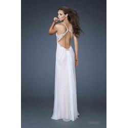 luxusní krémové plesové svatební šaty La Femme - originální model 18693, velikost M-L