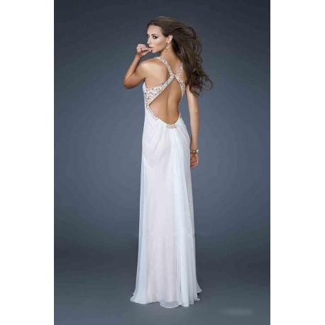 Výprodej! luxusní krémové plesové svatební šaty La Femme - originální model  18693 28beb6e438