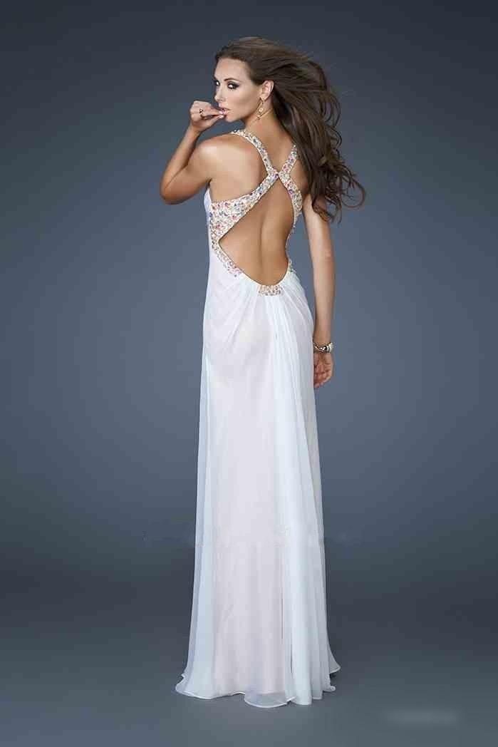 luxusní krémové plesové svatební šaty La Femme - originální model 18693 d1ee119427