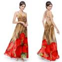 dlouhé společenské nebo letní květované šaty Aronie XS