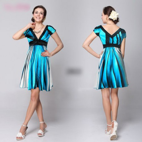 024bf471f081 krátké modré letní společenské šaty Sindy S - Hollywood Style E-Shop ...