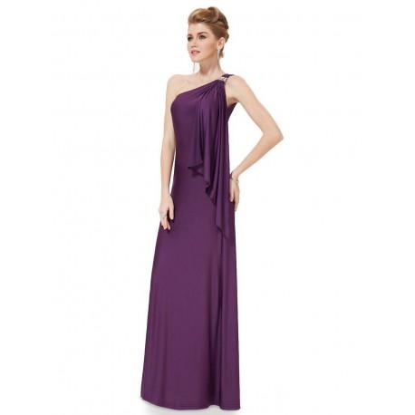 tmavě fialové dlouhé společenské šaty XXL