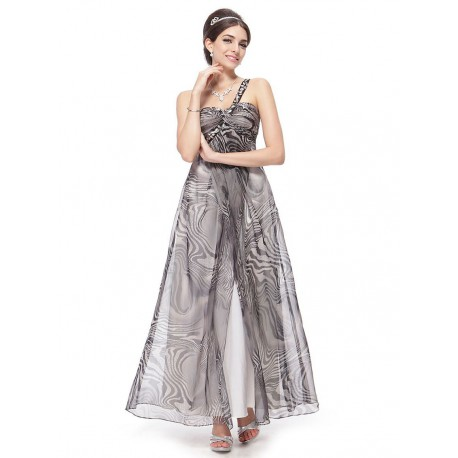 luxusní dlouhé společenské šaty černo-bílé s otevřenými zády S