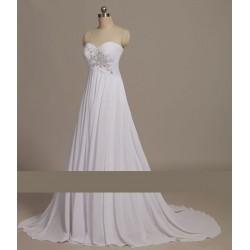 antické svatební šaty bílé Roberta S