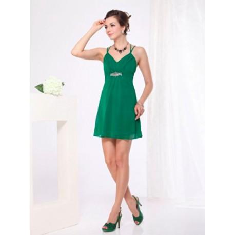 afb8a2e22be5 Kratke Jednoduche Zelene Spolecenske Saty S Hollywood Style E Shop