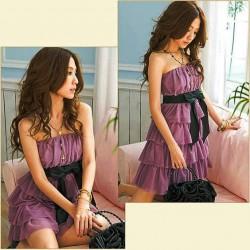 fialové krátké letní společenské šaty Suri M