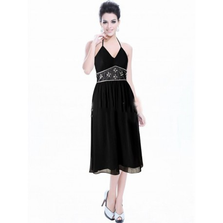 krátké černé společenské šaty Bianca XL