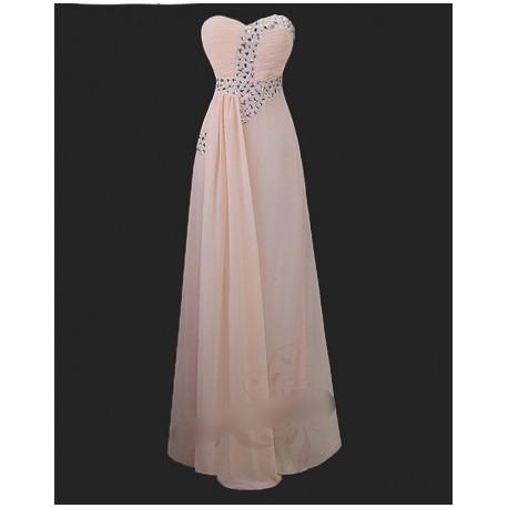 lososové dlouhé společenské šaty Sofia M
