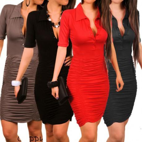 černé společenské pouzdrové šaty s rukávy S