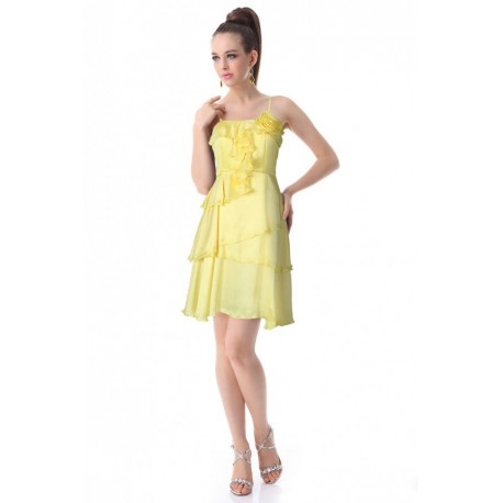 krátké žluté společenské letní šaty Joly L - Hollywood Style E-Shop ... 64b7b6848f