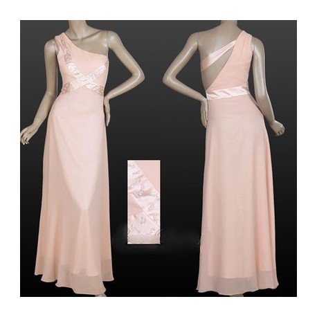 7660998ee9e1 Výprodej! růžové dlouhé společenské šaty na jedno rameno Amanda XXL